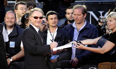 Dan Brown at the Rome premiere of Angels and Demons.