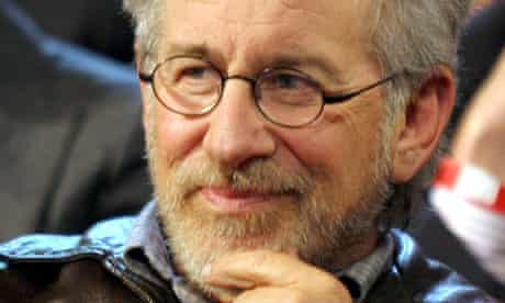Steven Spielberg attends the LA Democratic presidential candidate debate in 2008.