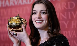 Anne Hathaway honoured as Harvard University's Hasty Pudding Club's 2010 Woman of the Year