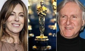 Oscars 2010: Kathryn Bigelow, an Oscar, James Cameron