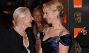 Baftas: Vanessa Redgrave and Joely Richardson