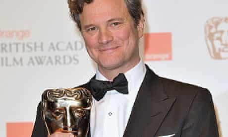 Colin Firth with his best actor Bafta for A Single Man