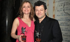 Anne-Marie Duff and Andy Serkis at Evening Standard film awards 2010