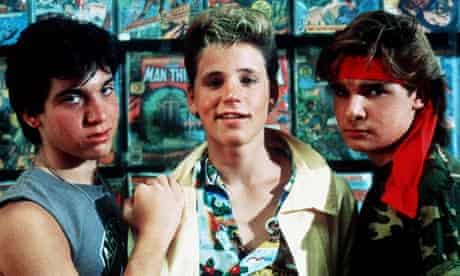 Corey Haim (centre) with his co-stars in The Lost Boys