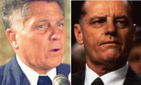 Jimmy Hoffa and Jack Nicholson in Hoffa