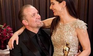 Sandra Bullock with her husband Jesse James after winning the 2010 best actress Oscar