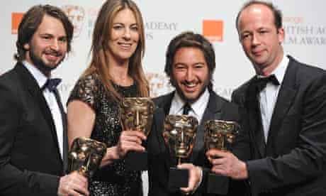 Nicolas Chartier with the director and other producers of The Hurt Locker
