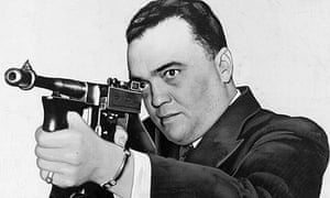 FBI director J Edgar Hoover in a 1936 documentary You Can't Get Away With It
