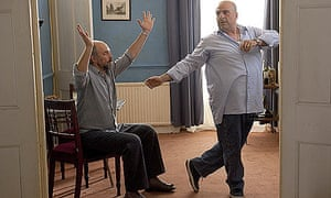 Richard Schiff and Omid Djalili in The Infidel