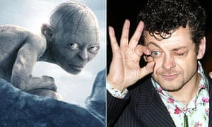 Gollum, played by Andy Serkis