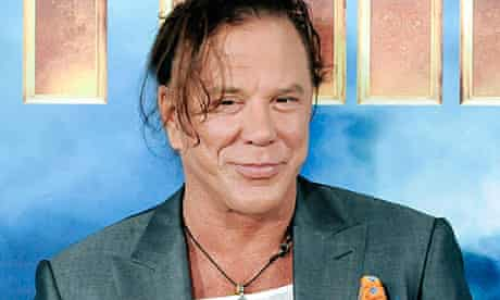 Mickey Rourke at a photocall for Iron Man 2 in Los Angeles