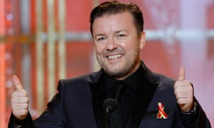 Ricky Gervais hosting the 67th Golden Globes in January 2010