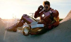 Robert Downey Jr in Iron Man 2