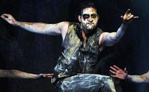 Bollywood actor Abhishek Bachchan at the launch of Raavan in Mumbai
