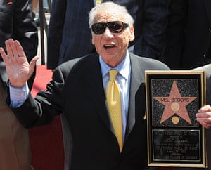 Mel Brooks at the unveiling of his Hollywood Walk of Fame star