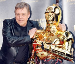 Mark Hamill at a screening of The Empire Strikes Back at the Jules Verne festival in Paris