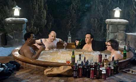 Craig Robinson, Rob Corddry, Clarke Duke and John Cusack in Hot Tub Time Machine