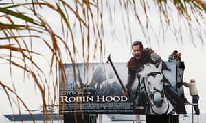 Billboard for Ridley Scott's Robin Hood at Cannes
