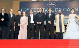 Cannes 2010 jury members at the opening ceremony