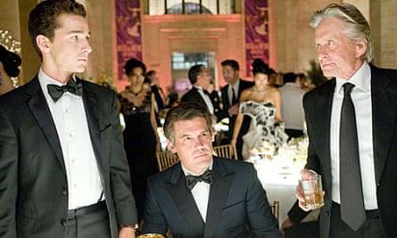 Shia LaBeouf, Josh Brolin and Michael Douglas in Wall Street: Money Never Sleeps