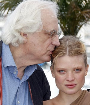 Cannes film festival day6: Director Bertrand Tavernier with Melanie Thierry in Cannes