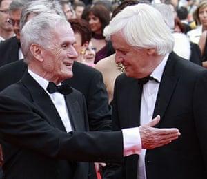 Cannes film festival day6: Costa Gavras and Jacques Perrin at La Princesse de Montpensier premiere