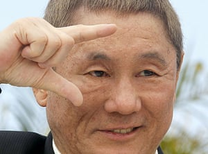 Cannes film festival day6: Takeshi Kitano at photocall for Outrage at Cannes film festival