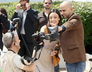 Cannes film festival day6: Martina Gusman and Pablo Trapero at Cannes photocall for Carancho