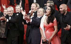 Cannes film festival day8: Cast of Of Gods and Men at the film's Cannes premiere
