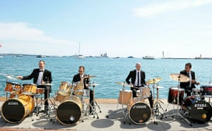 Cannes film festival day8: Drummers perform at the 63rd Cannes film festival