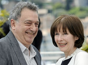 Cannes film festival day8: Stephen Frears and Posy Simmonds at Tamara Drewe photocall at Cannes