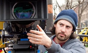 Jason Reitman on the set of Up in the Air