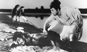Toshiro Mifune and Daisuke Kato in Rashomon