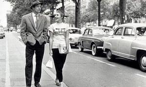 Jean-Paul Belmondo and Jean Seberg in Breathless