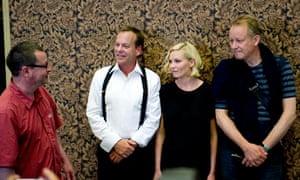 Melancholia: Lars von Trier with Kiefer Sutherland, Kirsten Dunst and Stellan Skarsgard