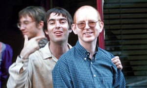 LIAM GALLAGHER WITH ALAN MCGEE OUTSIDE RONNIE SCOTTS,  LONDON, BRITAIN -  JUL 1997