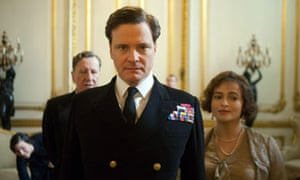 Monarch of the glean ... Geoffrey Rush, Colin Firth and Helena Bonham Carter in The King's Speech.