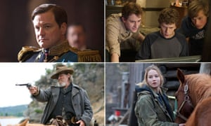 Oscar contenders The King's Speech, The Social Network, True Grit and Winter's Bone.