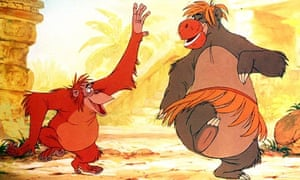 King of the singalongs ... Louis and Baloo in Walt Disney's The Jungle Book (1967).