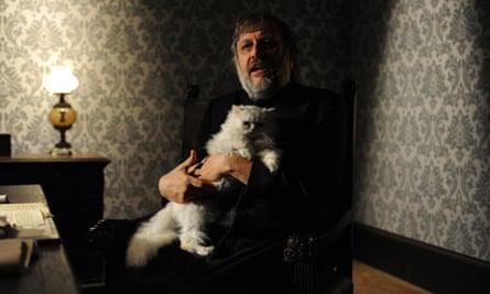 Žižek as Bond villain Blofeld in his new film, The Pervert's Guide to Ideology