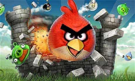 Flying into a rage … Angry Birds, which will soon be an actual real film
