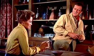 Setting the bar high … Angie Dickinson and John Wayne in Rio Bravo (1959)