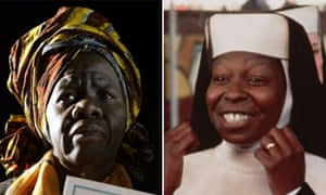 Queen Mother Dr Delois Blakely and Whoopi Goldberg in Sister Act