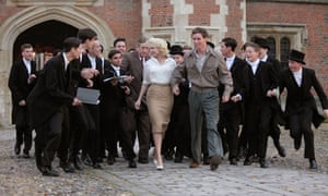 My Week With Marilyn: Michelle Williams as Monroe being mobbed by English private school boys