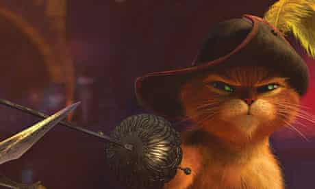 A still from Puss in Boots – rechristened 'Cat in Boots' for UAE audiences