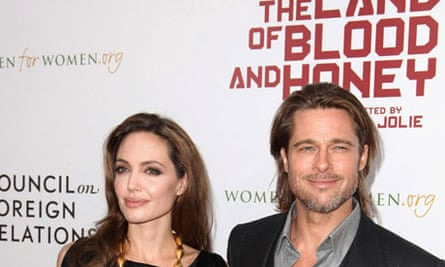 Angelina Jolie and Brad Pitt at the New York premiere of In the Land of Blood and Honey
