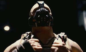 You talkin' to me? … Tom Hardy as Bane in The Dark Knight Rises