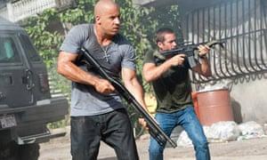 Aiming high … Vin Diesel and Paul Walker in Fast Five