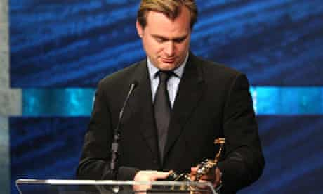 Christopher Nolan accepts the Golden Eddie film-maker of the year award for Inception