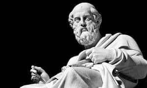 Marble statue of Plato